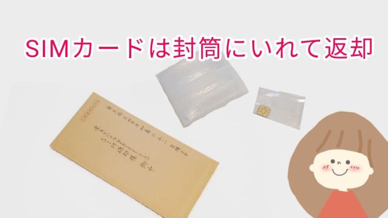 SIMカード返却の画像